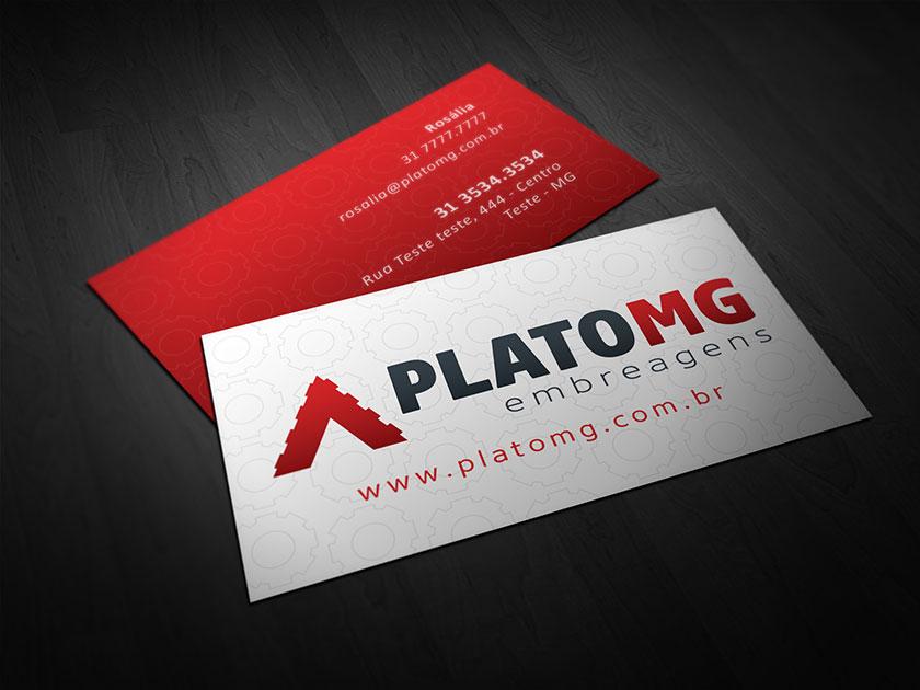 identidade visual cartao de visita site plato mg embreagens logotipo marca design designer grafico betim minas gerais mg