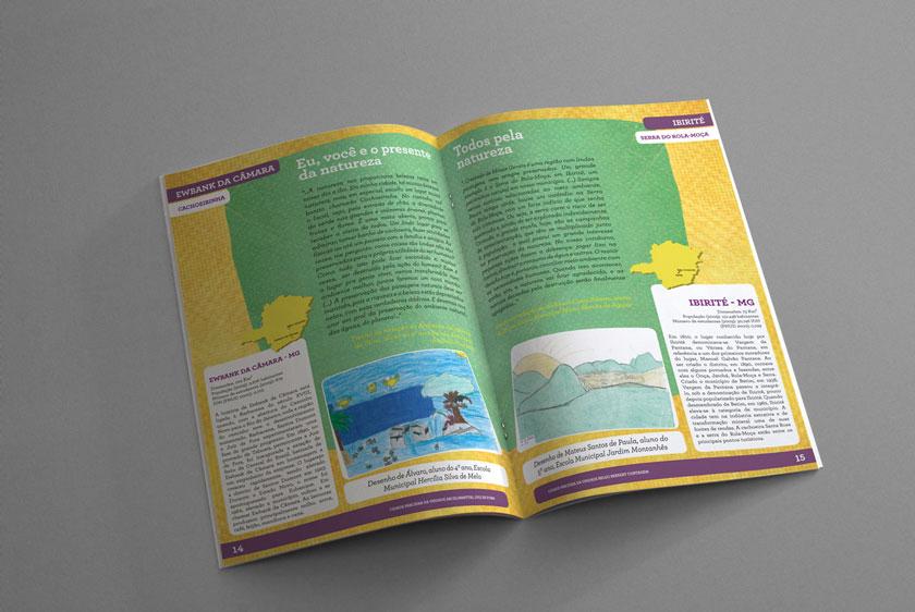 diagramação revista mosaico arcelor mittal asas produções belo horizonte Minas gerais