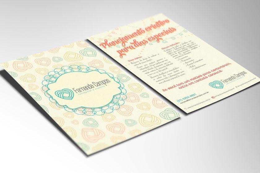 Folder panfleto fernanda campos cerimonial e eventos