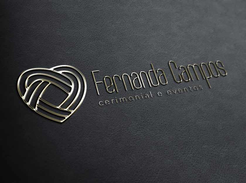 logotipo logomarca fernanda campos cermonial e eventos igarape, betim, contagem belo horizonte