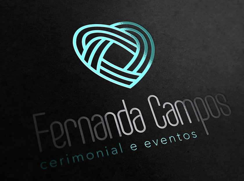 logotipo horizontal fernanda campos cermonial e eventos igarape, betim, contagem belo horizonte