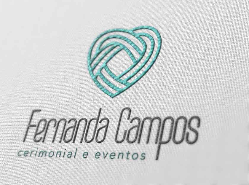 aplicação logotipo bordado fernanda campos cerimonial e eventos