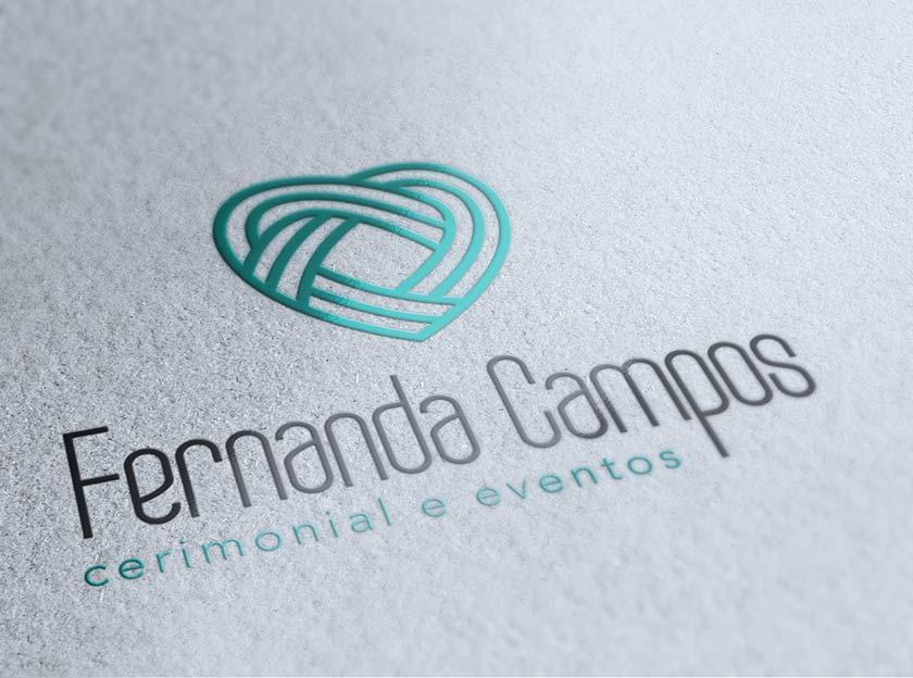 aplicaçao de logotipo vertical fernanda campos cerimonial e eventos