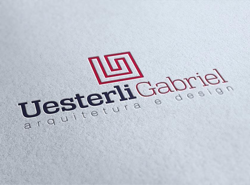 logotipo arquiteto uesterli gabriel igarape, betim, belo horizonte, logomarca, identidade visual, criar